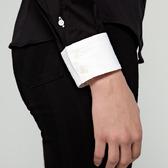 Camisa Mujer Clásica Negra Contraste | TatuSpirit