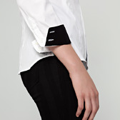 Camisa Mujer Clásica Blanca Contraste | TatuSpirit