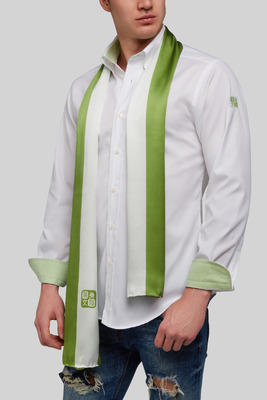 Verde contraste linea blanca