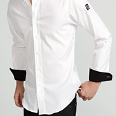 Camisa Hombre Clásica Blanca Contraste   TatuSpirit