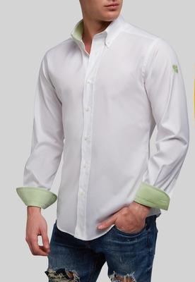 Clásica Blanca Contraste Verde